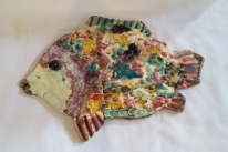 Kay Beale's pottery fish