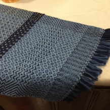 Handwoven table runner by Anne O'Brien