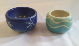 Pottery bowls by Holly Stevens