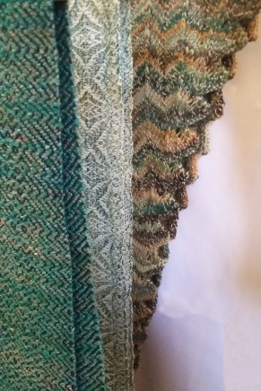 Handspun and handwoven scarves by Anne O'Brien