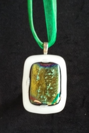 Kaye kiln fired glass pendant