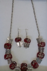 Kay glass bead jewellery set