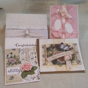 Assorted handmade cards by Susy Holgate