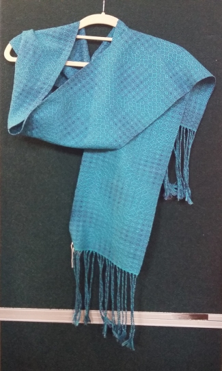 Handwoven cotton scarf by Anne O'Brien