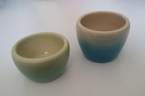 Gradient pots by Holly Stevens