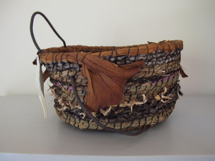 'Going North' handwoven basket by Sue Dilley